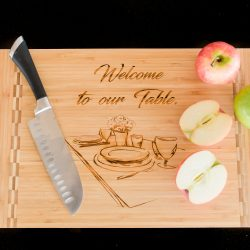 quality custom engraved cutting board made from bamboo