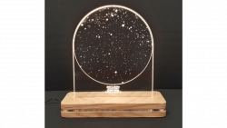 led free standing modern star chart with custom engraving