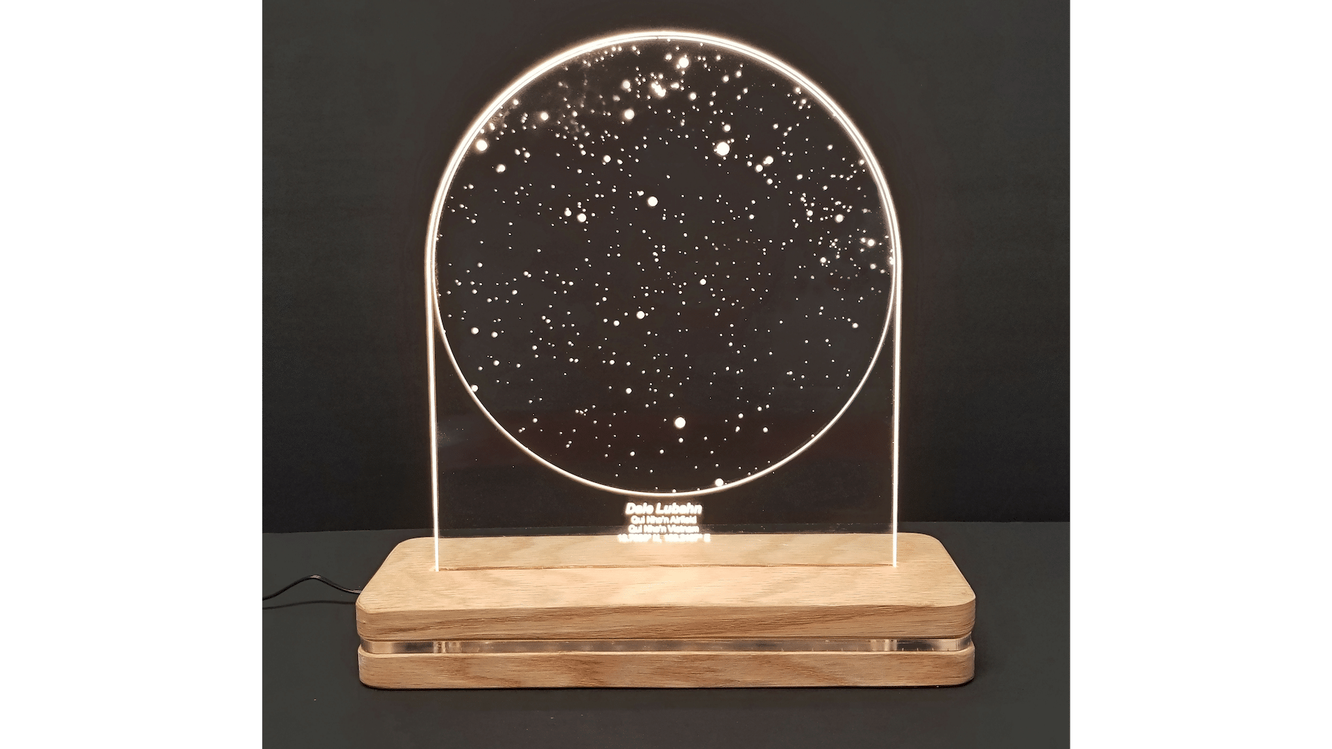 LED Free-Standing Star Map with Image