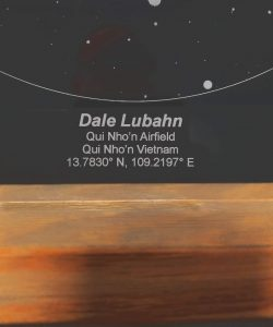 freestanding star chart with custom engraving